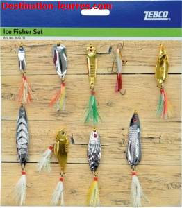 Kit cuiller zebco ice fisher set