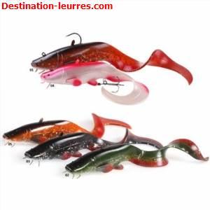 Leurre souple arme dam effzett look-a-life catfish curl tail