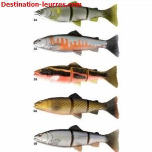 Leurre souple arme savage gear 3d line thru trout modele japon