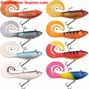 Leurre souple arme storm split tail seeker shad