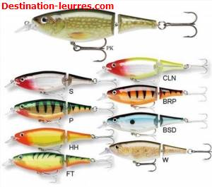 Leurre suspending articule rapala x-rap jointed shad