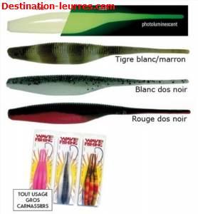 Leurre wave worms shadicks slug
