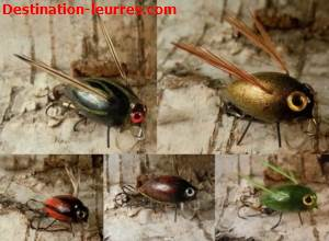 Pack 5 leurres flottants truite stepanow fishing fishing wobbler insect n°2